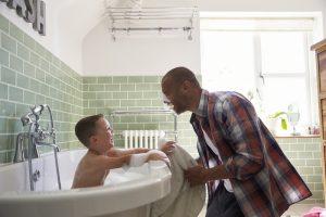 father-son-bathtime-warm-water